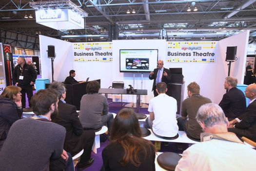 Visitors at a Sign & Digital Business Theatre