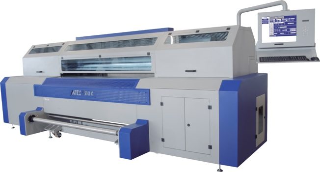 The MTEX 500C, for printing onto stretch and non-stretch fabrics using reactive dyes