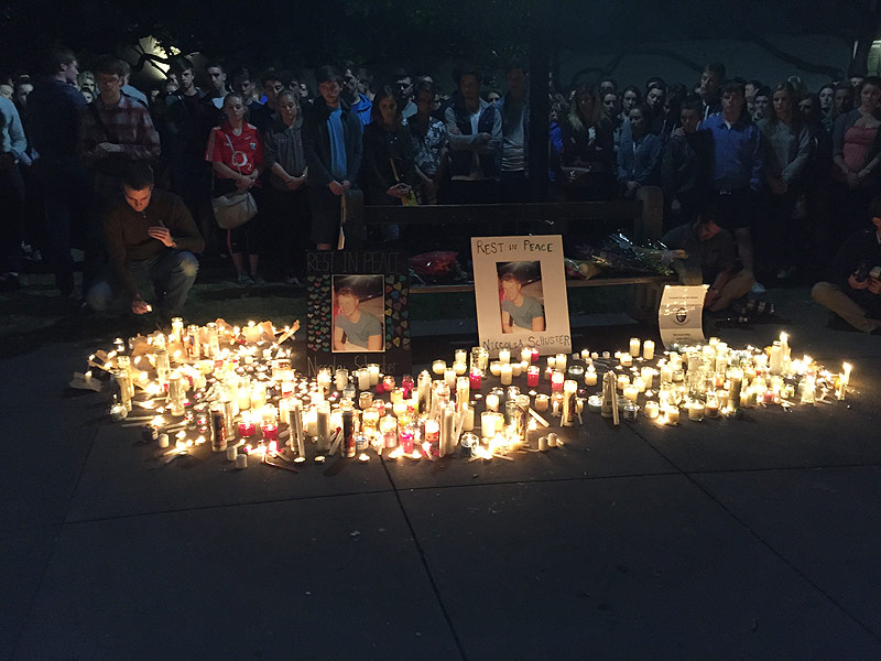 Vigil for the 6 students who died in Berkeley