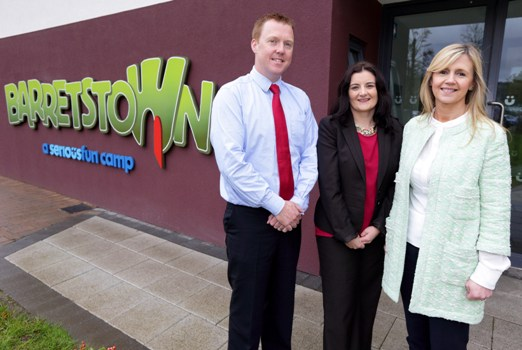 (L-R) Tim O'Dea, director of development, Barretstown; Karen O'Connor, general manager service delivery, Datapac; and Dee Ahearn, CEO, Barretstown