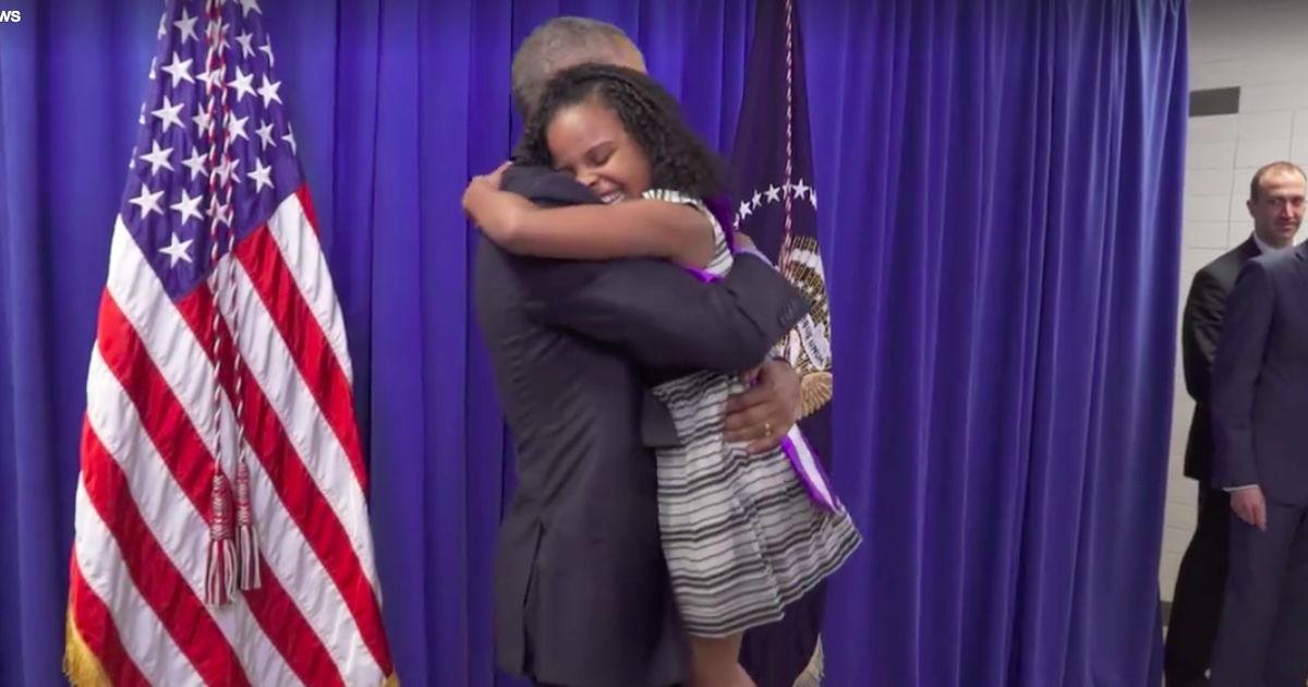 President Obama Meets 'Little Miss Flint' Mari Copeny