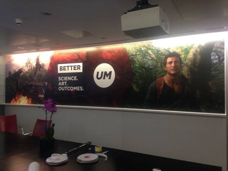 Another wall graphic created by ABC Imaging using CMYUK's removable and repositionable UTACK media 1aphic created by ABC Imaging using CMYUK's removable and repositionable UTACK media