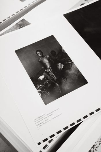 The three books comprise over 700 of Don's most iconic photographs as well as many previously unpublished images. This page showing a young girl starving in Biafra is taken from volume 1, War & Reportage