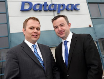 (L to R) Patrick Kickham, director, Datapac and Brian Hayes T.D., Minister of State at the Department of Public Expenditure and Reform